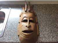 Large solid wood mask