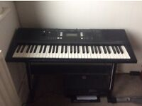 Yamaha PSR-E343 Digital Keyboard with 61 Keys WITH FREE Z-Shaped Stand Power Supply