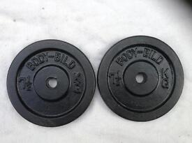 6 x 7.5kg Bodybild Standard Cast Iron Weights