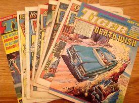 6 copies of Eagle & Tiger comics (1985) plus 2 copies of Tiger comic (1982/1983)