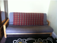 Quality three seater double futon