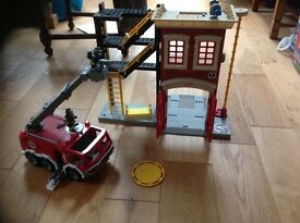 Imaginex fire engine and station