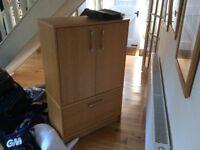 oak effect filing cupboard