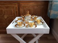 GOLD COFFEE SET AND TEAPOT