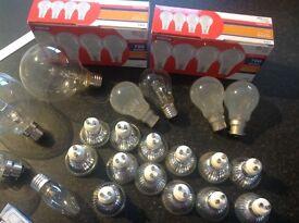 Job lot of bulbs, 40 bulbs