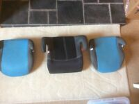 Child car booster seats x 3