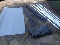 Various rolls of new Lino Beige, light grey and dark grey + trims