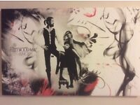 Large canvas picture Fleetwood Mac Rumours Vinyl cover Black/red/white 32 x 20 inches