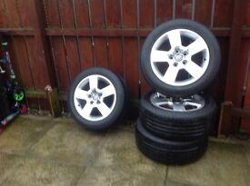 "4x16"" Audi/ VW Alloys and tyres"