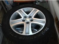 Alloy wheels, Very good condition X 4. Tyres as new.