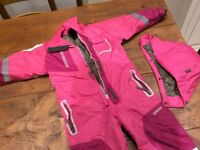 Girls all in one ski outfit