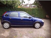 2003 Vauxhall Corsa Active 1.0cc 12v Low Mileage for age, MOT til May, A/C, 5 door, Ideal 1st Car