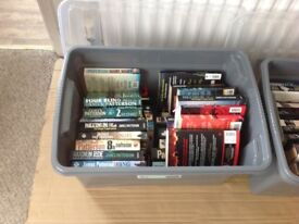 2 large boxes novels, Lee Childs, James Patterson, Patricia Cornell - murder mystery spy. Read once.