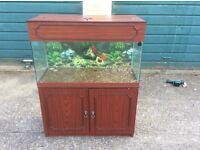 3 foot fish tank with cabinet ..