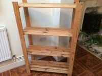 Wood Shelving Unit. (ideal display or Storage space)