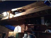 Extending Wooden Ladder. 2 Piece extending to about 20 feet.