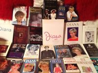 Huge collection of princess Diana books