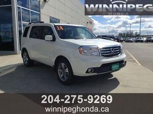 2014 Honda Pilot EX-L. Local Manitoba trade, low kilometers, On