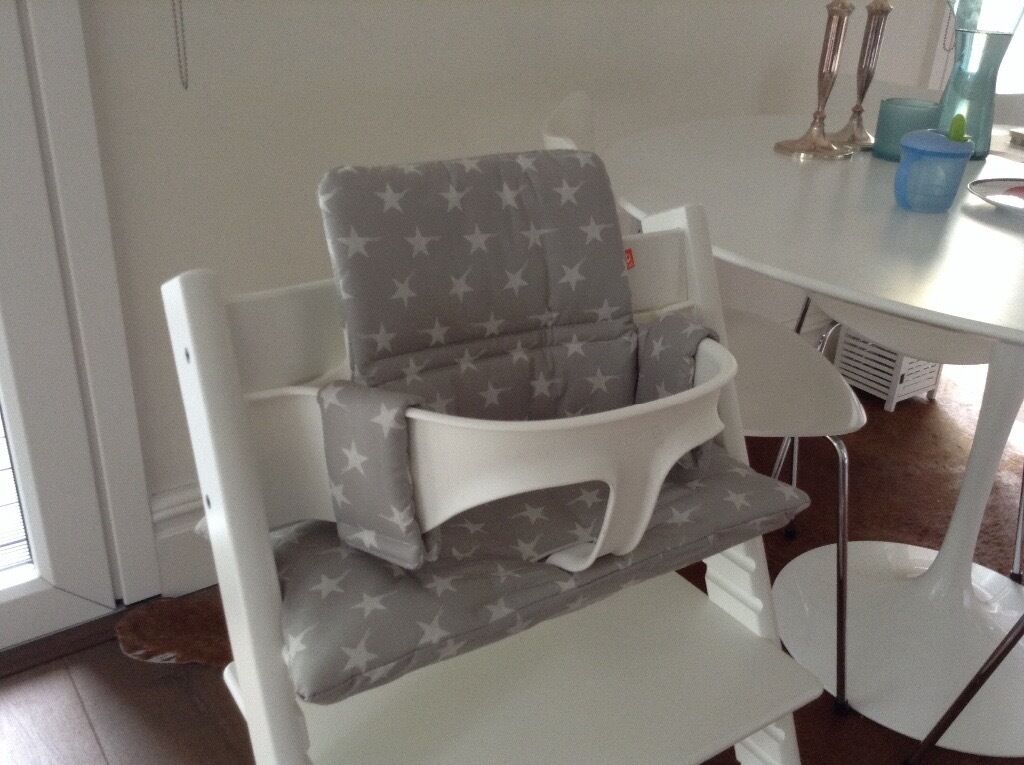 baby set for the tripp trapp high chair by stokke grey stars in london gumtree. Black Bedroom Furniture Sets. Home Design Ideas