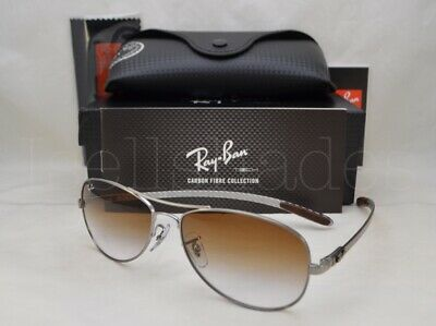 Ray Ban CARBON FIBRE (RB8301-004/51 56) Gunmetal with Crystal Brown Grad Lens