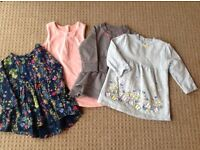 Girls 3-6 month dress/tunic bundle includes Next and M&S.
