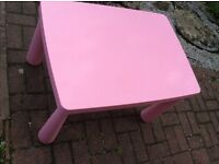 IKEA Mammut pink childrens table as new