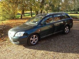 Toyota Avensis T3X Tourer 2.2D 2005, 6 speed manual, FSH, MOT 09/18, very comfortable & reliable