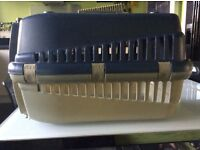 Basic pet carrier. Used but clean and in full working order