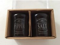 Brand New in Box Salt and Pepper Pots
