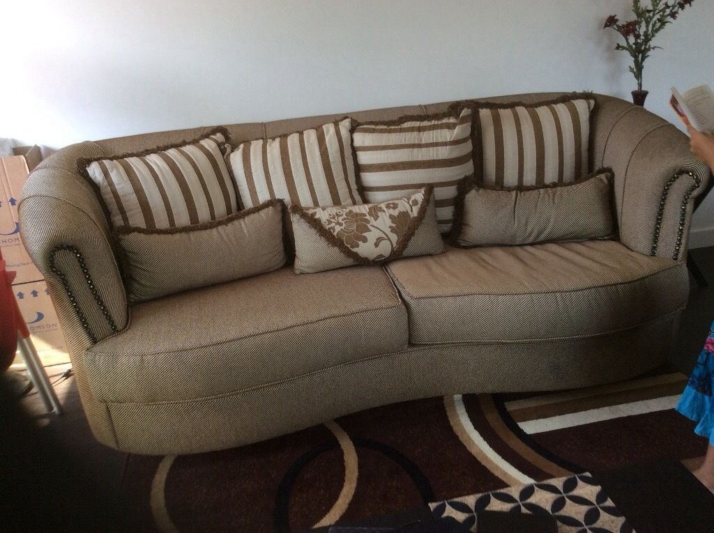 Set of 3 Seater + Wingback chair + Ottoman