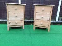 Pine chest /bedside drawers