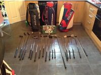 Golf clubs and bags + DVD