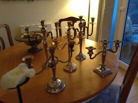 Selection of candelabras