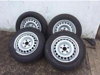 """4x VW T5 16"""" Wheels and Tyres"""