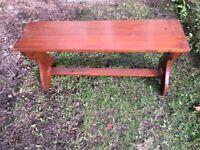 Wooden bench. Solid hardwood, handmade