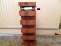 Solid hardwood wine rack