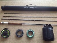 Greys GRXI 10'# 7 fly rod with greys 567 GX 500 fly reel loaded fly line sinker floater and inter.