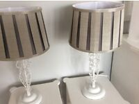 Table lamps x 2