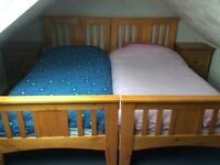 2 Good Quality Pine Single Beds available
