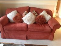 Multiyork Settee seats three people and arm chair, in good condition.