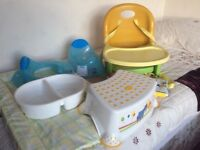 Baby/toddler items for sale. Most has hardly been used. Kept at Grandparents home for occasional use