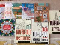 Job Lot of Colouring Books & Cardstock Pads