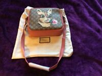 Auth Gucci GG monogram cat messager (brand new with auth certificate)