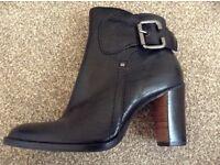 NINE WEST Black High Heel Ankle Boots - Size 4
