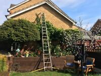 Hunter Triple Aluminium ladders with stabilizers & adjustable feet. SOLID STURDY HEAVY