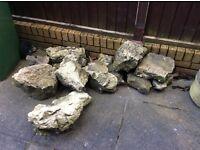Limestone rockery,garden stone