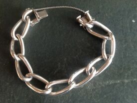 Solid Silver Ladies Bracelet