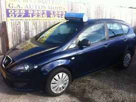 2007 SEAT ALTEA REFERANCE 1.6 *** F.S.H *** 12 MONTHS MOT *** ( NOW CHEAP M.P.V )