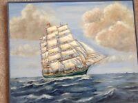 Homeward bound Acrylic painting