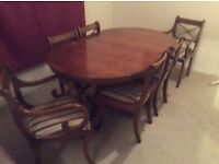 Selling dining table & 6 chairs
